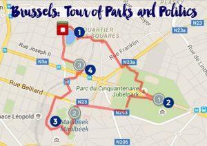 gratis rondleiding door de Brussel
